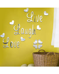 mirror decals home decor spectacular deal on wall sticker live laugh love quote vinyl wall