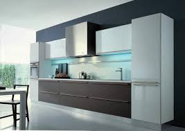 modern open kitchen design with led lighting under cabinet also