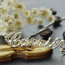 Carrie Name Necklace 3d Carrie Name Necklace Sterling Silver