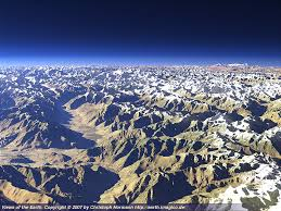 Karakoram Range Map Views Of The Earth The Karakoram From South