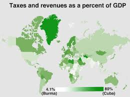 Cuba World Map by Map Of Countries That Collect The Most In Taxes As A Percentage Of