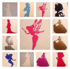 wine glass silhouette disney princess inspired wine glass mug silhouettes