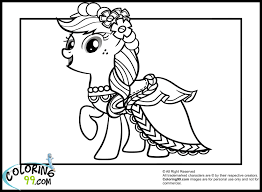 pony applejack wedding dresses coloring pages jpg