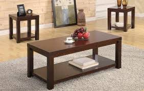 brown coffee table set cherry brown matte finish modern 3pc coffee table set furniture clue
