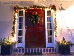 decorating the outside of your house for christmas vintage