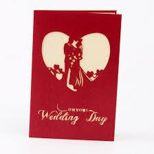 3d bride and groom handmade pop up greeting cards kirigami wedding