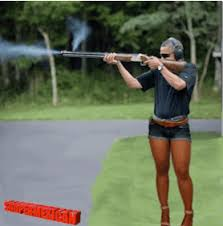 Obama Shooting Meme - this is what the internet did to a photo of obama shooting a gun