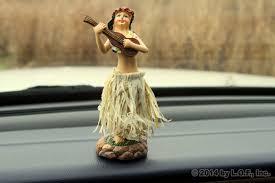 dashboard hula doll skirt hawaii aloha