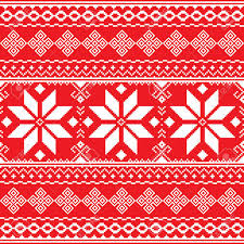 ukraine pattern vector traditional folk red and white embroidery pattern from ukraine