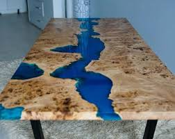 live edge river table epoxy sold live edge river table with epoxy resin sold