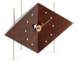 desk clocks modern george nelson diamond desk clock hivemodern com
