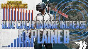 pubg damage chart pubg blue circle damage increase over time explained october