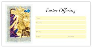 easter themed offering envelopes pre printed themed