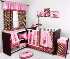 Brown And Pink Crib Bedding Damask Baby Bedding Bacati Damask Bacati A2zchild