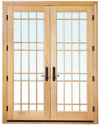 Wood Patio French Doors - weather shield hinged patio door