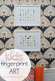 Diy Kids Bathroom - diy kids fingerprint art jenna burger