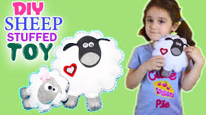 diy shaun the sheep plushie how to make cute sheep crafts for