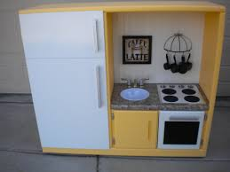 play kitchen ideas another play kitchen we made out of an old entertainment center