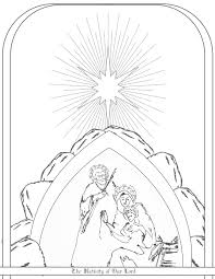 love u0026 sacred art free nativity coloring