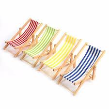 miniature colorful stripe wooden diy lounge lawn chair