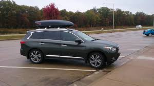 infiniti qx60 trunk space yakima skybox 18 on qx60 infiniti qx60 forum
