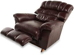 Leather Chair by La Z Boy Crandell Bordeaux Leather Recliner Mathis Brothers