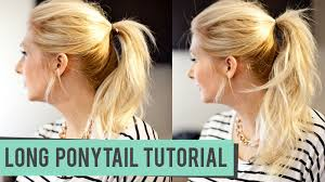 hairstyles easy to do for medium length hair how to fake a longer pony tail for medium to long length hair