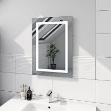 mode shine rectangular led mirror with demister victoriaplum com