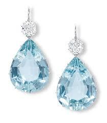 aquamarine earrings diamond and pear shaped aquamarine earrings jewelry