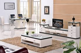 Steel Living Room Furniture Grade Stainless Steel Paint Glass Coffee Table Tv Cabinet Fashion