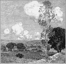 Landscape With Houses by Franklin Booth