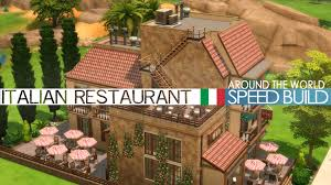 the sims 4 speed build italian restaurant around the world