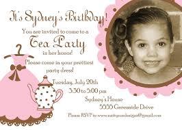 Tea Party Invitation Card Tea Party Birthday Invitations Kawaiitheo Com