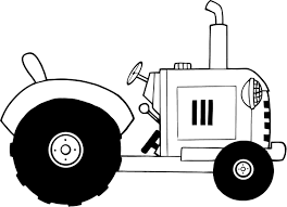 free coloring sheets of a vintage farm tractor bw coloring point