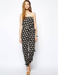 strapless denim jumpsuit 20 great looking jumpsuits and rompers styles weekly