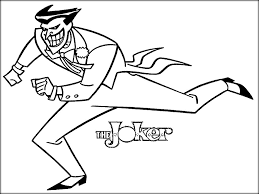 printable batman joker coloring pages color zini