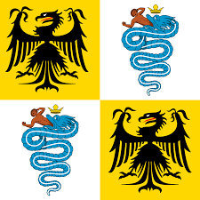 Yellow Flag With Snake File Flag Of The Duchy Of Milan 1450 Svg Wikimedia Commons