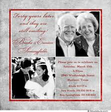 40th anniversary invitations 40 years of smiles photo invitation wedding anniversary