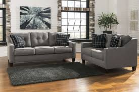 5 piece living room set signature design by ashley brindon charcoal 2 piece living room
