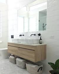 Timber Bathroom Vanity Wall Hung Bathroom Vanity White Oak Timber Wood Grain Wall Wall