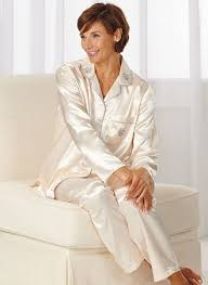 brushed back satin pajamas amerimark catalog shopping
