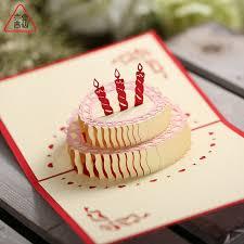 usd 5 21 3d handmade creative three dimensional birthday greeting