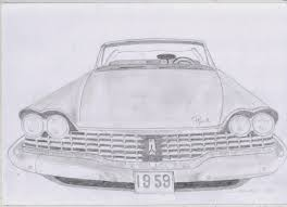 old cars drawings classic car drawings 1959 plymouth fury original pencil drawing