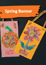 welcome spring with this easy to make torn paper mini banner