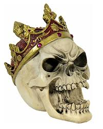 skull with crown for horror shop com