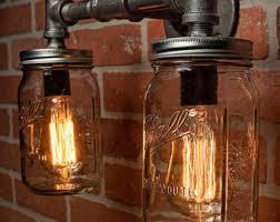 Rustic Bar Lights Industrial Lighting Lighting Rustic Light Steampunk