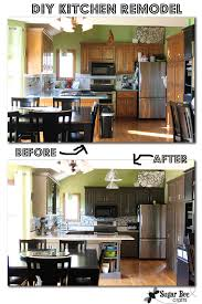 How To Remodel Kitchen Cabinets Yourself by Diy Kitchen Remodel The Big Reveal Sugar Bee Crafts