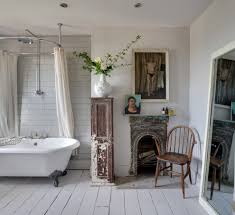 rustic chic art bathroom shabby chic style with metro tile