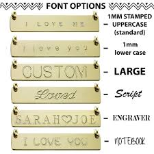 Gold Name Plated Necklace Gold Name Plate Necklace Custom Double Bars U2013 The Urban Smith
