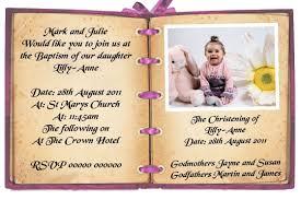 Sample Baptismal Invitation Cards Birthday And Baptism Invitations First Birthday And Baptism